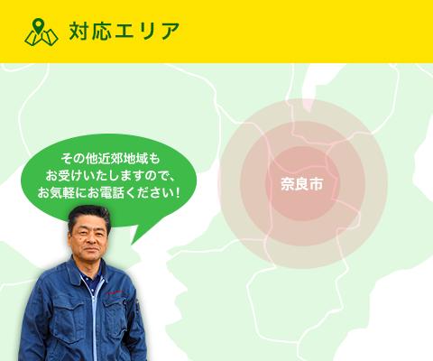 対応エリア|奈良市